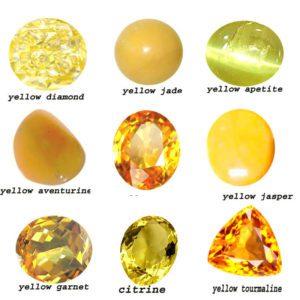 yellow gemstones
