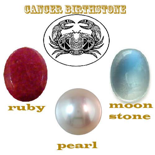 cancer birthstone