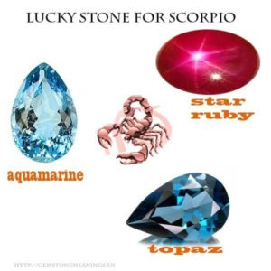 lucky stone for scorpio